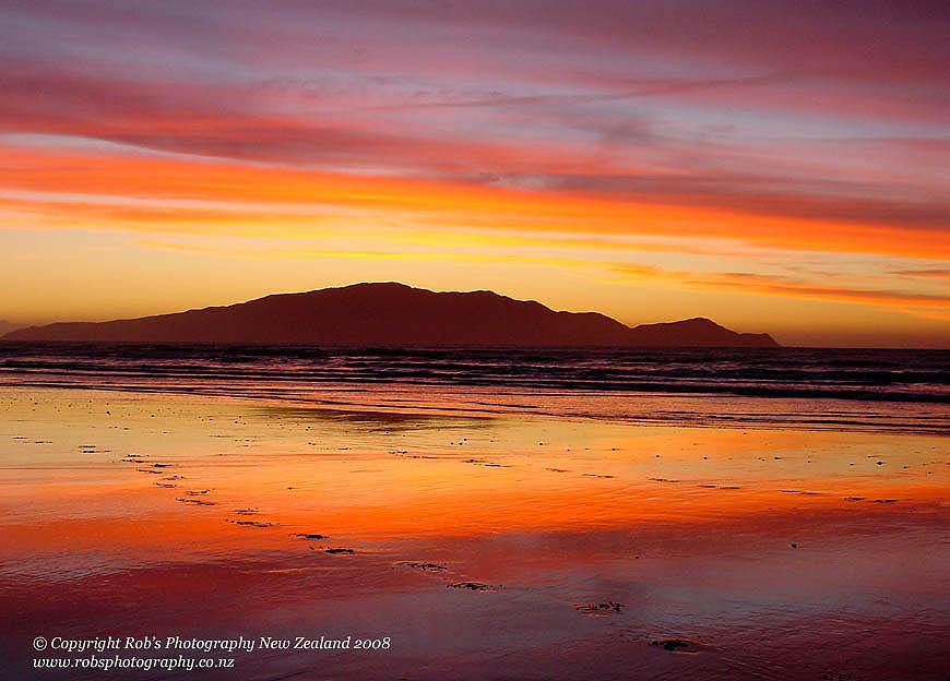 Kapiti Sunset taken at Peka Peka Beach, near Waikanae on