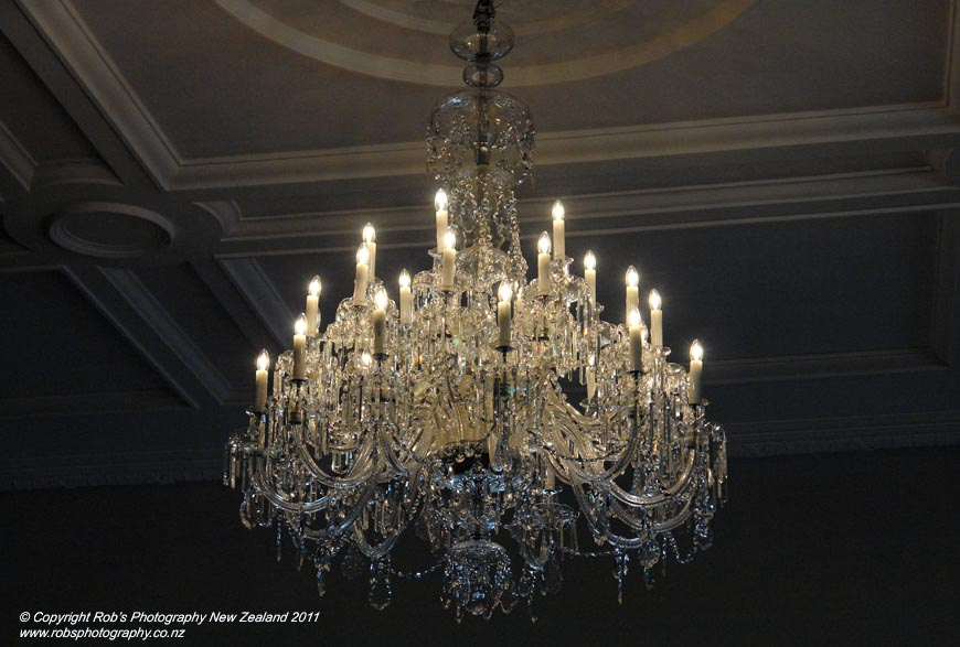 Czech Crystal Chandelier At Government House Wellington New Zealand